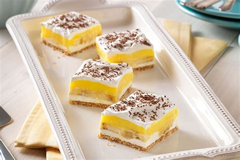 dessert recipes with bananas banana pudding squares kraft recipes