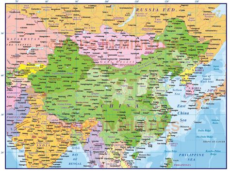 digital vector china political country map  level