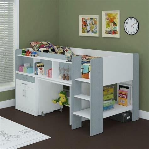 Bed In A Cupboard Australia by New Single Midi Sleeper Bunk Bed With Desk Cabinet