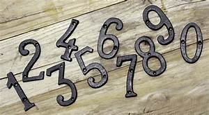 cast wrought iron black antique house door alphabet With iron house numbers and letters