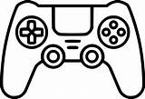 Joystick Svg Stick Icon Controller Clipart Xbox Drawing Background Onlinewebfonts Controllers Series sketch template
