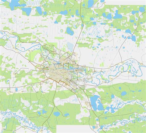 Карта Тюмени. Карта дорог г. Тюмень. Автомобильная карта города Тюмень и окрестностей   Raster ...