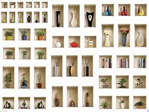 Stickers Muraux Trompe L Oeil : set 3 art wall stickers muraux 3d amovible d cor mural ~ Dailycaller-alerts.com Idées de Décoration