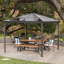 hard top gazebo aluminum pergola metal large outdoor canopy shelter shade