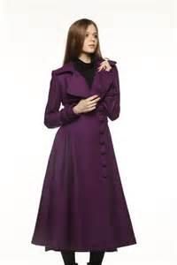 Purple Long Dress Coats for Women