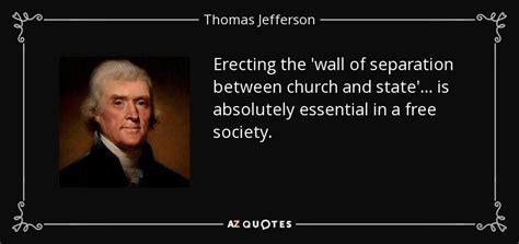 thomas jefferson quote erecting  wall  separation