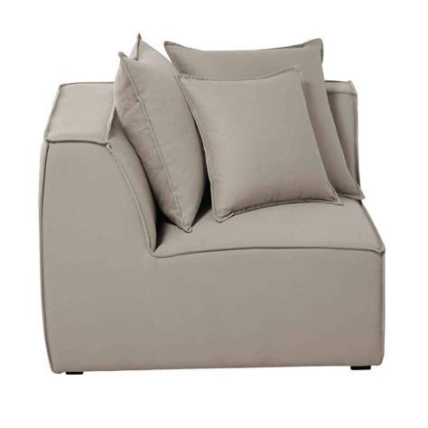 canapé angle beige angle de canapé modulable en coton beige colombus