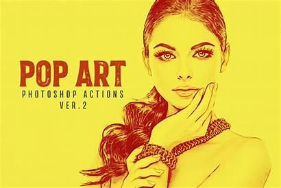 Photoshop Pop Actions Ver Creativetacos Creativemarket Action