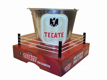 Boxing Tecate Bucket Beer Display Cerveza Recycling