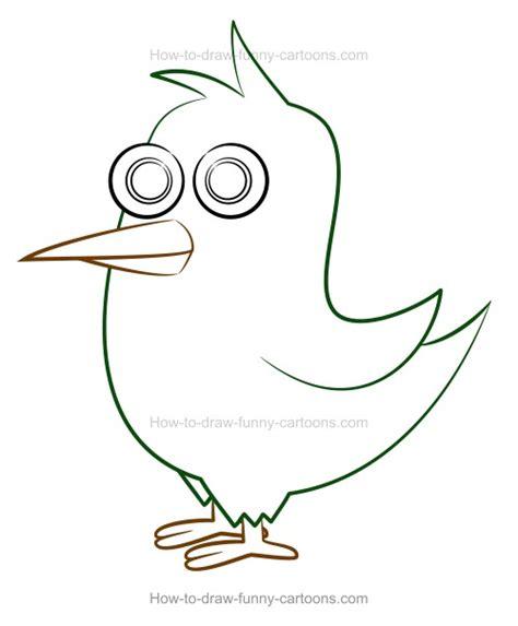 draw  cartoon bird