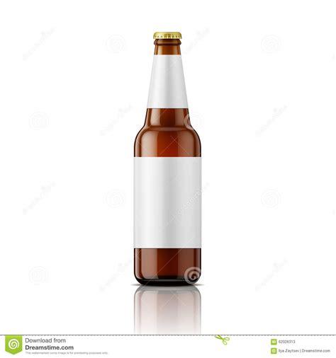 beer bottleneck label powerpoint template brown beer bottle with labels template stock vector