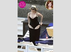 Christina Hendricks Can't Find Bathing Suits Because Of