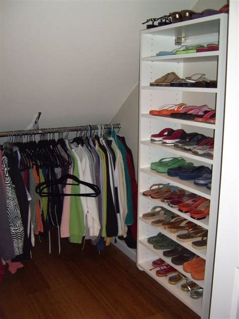 Closet Organization Ideas For Slanted Roof Attic Space by 14 Best Closets With Angled Ceilings Images On