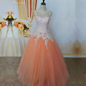 compare prices on light orange wedding dress online With where to get wedding dresses