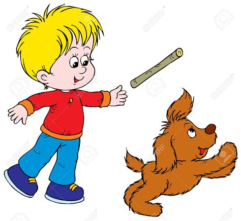 playing cartoon playing with dog clipart clipartxtras