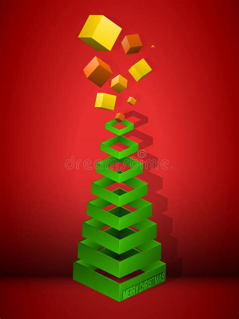 tree  pyramid shaped crown stock illustration