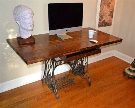 sewing machine desk ideas desk reclaimed wood desk sewing machine base wood