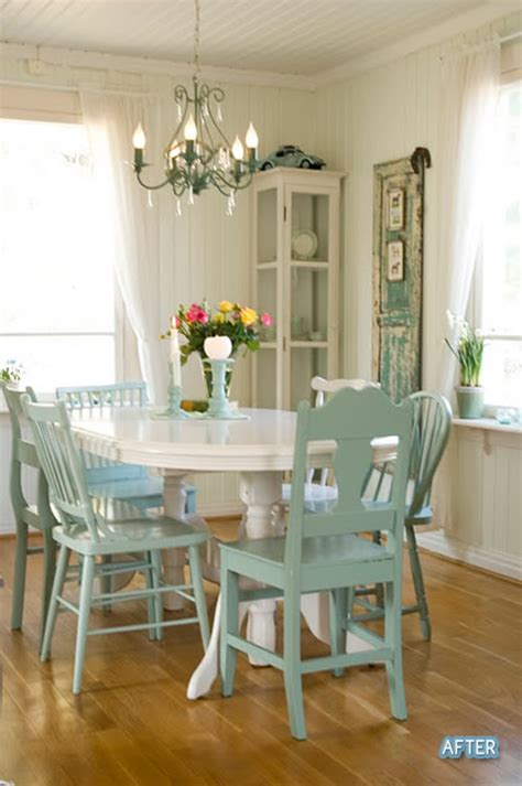 painting kitchen table and chairs different colors a different drum spray painting chairs