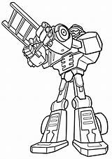 Rescue Bots Coloring Transformers Rescuebots sketch template