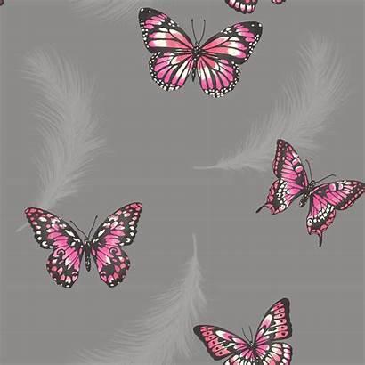 Teal Butterfly Bedroom Glitter Purple Parati Carta