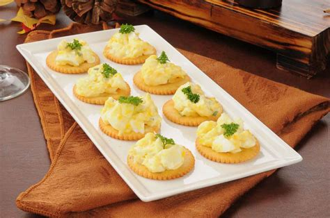 easiest canapes herbed egg canapé recipe with dijon mustard by archana 39 s