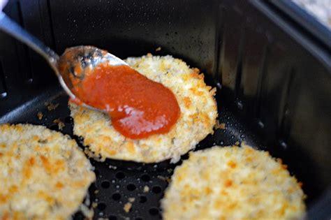 eggplant air vegan fryer recipe parmesan fried theveglife sauce shreds mozzarella added