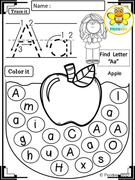 alphabet worksheets fruits  animals alphabet
