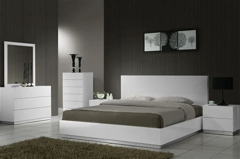 naples white lacquer platform bedroom set  jm