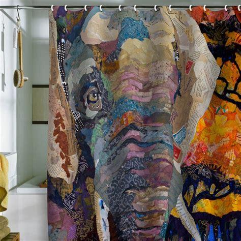 elephant shower curtain elizabeth st hilaire nelson elephant shower curtain