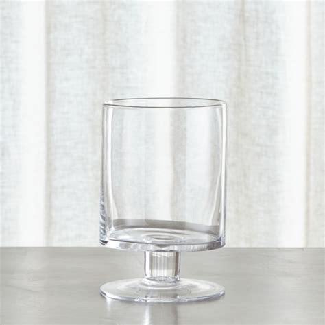 london short glass hurricane candle holder crate  barrel