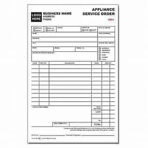 repair ticket template - appliance service order form designsnprint