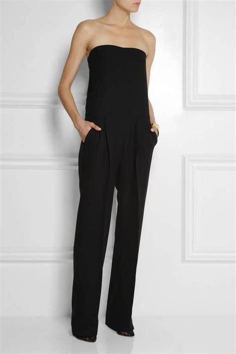 New Gucci Strapless Silk Cady Jumpsuit With Corset