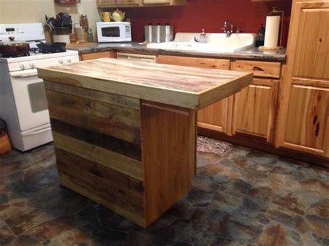 kitchen island table ideas diy shipping pallet kitchen furniture projects pallets