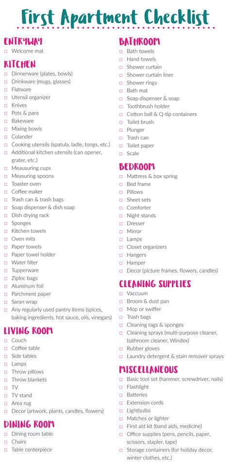 Best 25 First Home Checklist Ideas On Pinterest New Well Apartment Furniture Only