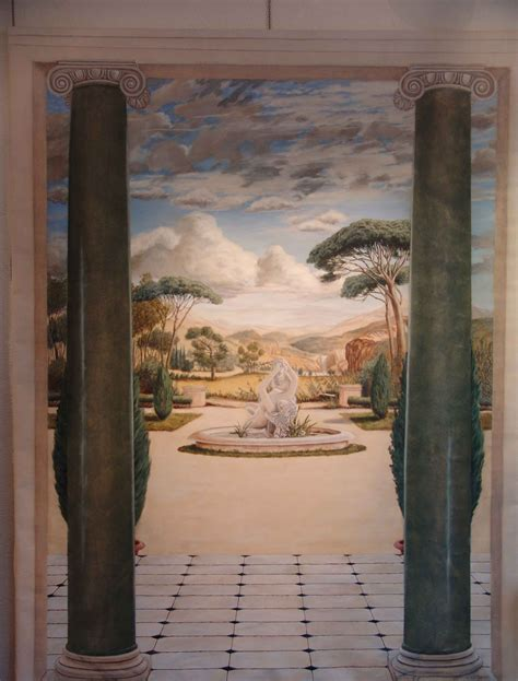 peinture murale trompe l oeil echapp 233 e sur le parc