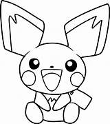 Pichu Coloring Pokemon Pages Pikachu Happy Printable Coloringonly Sheets Coloringpages101 Getcolorings Pdf sketch template