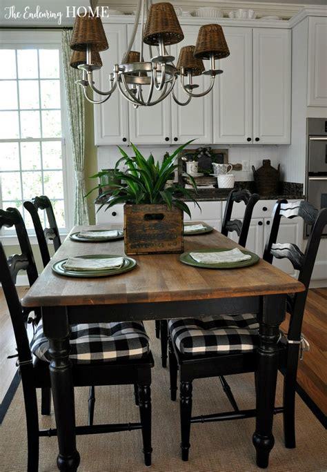 farmhouse style kitchen table makeover