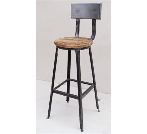 siege pour chaise haute chaise de bar métal quot atelier gray quot 7013