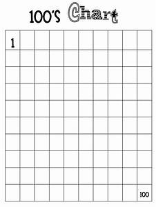 Blank number chart 1 100 worksheets kiddo shelter for Template for numbers 1 100