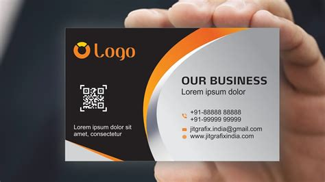 business card design  coreldraw  tutorial  jit