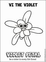 Daisy Scout Coloring Petal Petals Printable Makingfriends Violet Flower Scouts Law Daisies Friends Activities Sheet Gs Every Template Rosie Promise sketch template