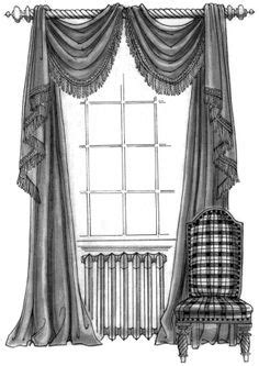 Elaborate 19th Century French Curtain & Furniture Designs