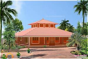 Single storied low cost brick home design