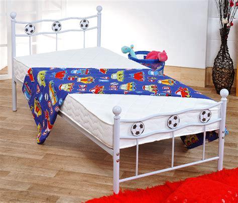 Futon Factory Maurice by Modern Metal Football Bed In White Or Black 2011 Version