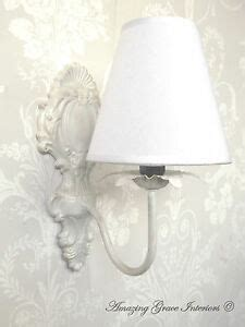 french shabby chic ornate vintage style wall light with