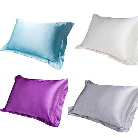 satin pillow covers bedding set silk pillow cover envelope 2105