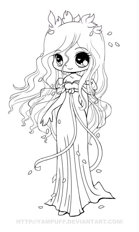chibi coloring pages    print