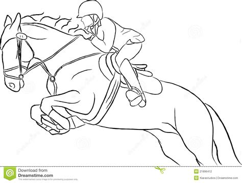 Show Jumping Horse Vector Stock Vector Image Of Element