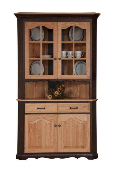 amish corner dining hutch hutches corner hutch dining