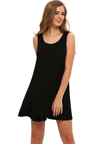 Dress Atasan Tank Top romwe s casual t shirt sleeveless swing dress tunic